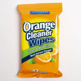 24 Units of Wipes 42 Count Orange Cleaner Daily Care - Cleaning Products