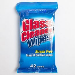 24 Units of Wipes 42 Count Glass Cleaner Daily Care - Cleaning Products