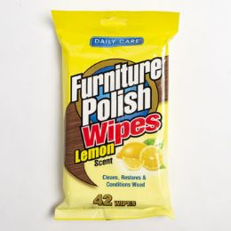 24 Units of Wipes 42 Count Furniture Polish Lemon Daily Care - Cleaning Products