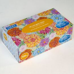 12 Units of Facial Tissue 120 Count Flat Box Assorted Prints Lucky - Tissues