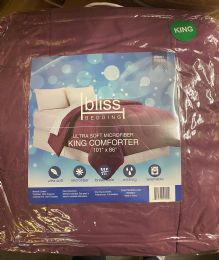 6 Units of 1 Piece Solid Comforter King Size In Rose - Comforters & Bed Sets