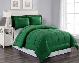 6 Units of 3 Piece Embossed Comforter Set Queen Comforter Plus 2 Shams In Green - Comforters & Bed Sets