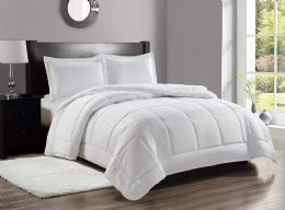 6 Units of 3 Piece Embossed Comforter Set King Size Plus 2 Shams In Ivory - Comforters & Bed Sets