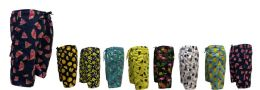 48 Units of Men's Printed Swim Shorts Waterproof With Lining - Mens Bathing Suits