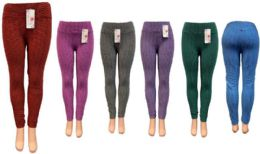 12 Units of Bright Color Leggings Assorted - Womens Leggings