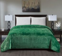 6 Units of Zebra Collection Queen Size Blankets In Green - Fleece & Sherpa Blankets