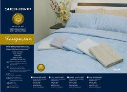 6 Units of Sheradian Printed Sheet Set Full Size Assorted Color - Bed Sheet Sets