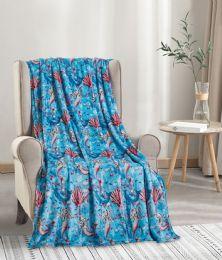 24 Units of Mermaid Throw - Micro Plush Blankets