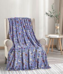24 Units of Llama Throw Blanket - Micro Plush Blankets