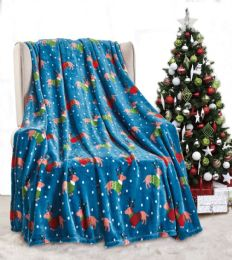 24 Units of Dogs In Sweater Throw Blanket - Micro Plush Blankets