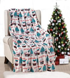 24 Units of Cupcakes Holiday Throw Design Micro Plush Throw Blanket 50x60 Multicolor - Micro Plush Blankets