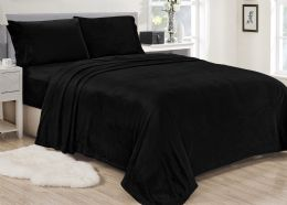 12 Units of Lavana Soft Brushed Microplush Bed Sheet Set Twin Size In Black - Bed Sheet Sets