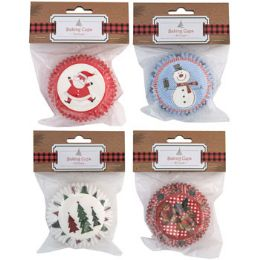 24 Units of Baking Cups Christmas - Baking Supplies