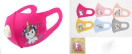 48 Units of Kids Cloth Face Cover With Unicorn Design - PPE Mask