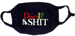24 Units of Black Color Face Cover Don't Ask Me 4 Shit All Black - PPE Mask