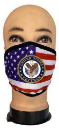 24 Units of Flag Style Face Mask United States Veteran - PPE Mask