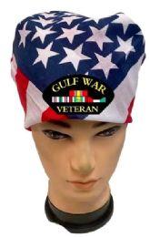 36 Units of Gulf War Veteran USA Flag Bandana - Bandanas