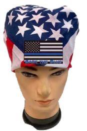 36 Units of Back the Blue USA Flag Bandana - Bandanas