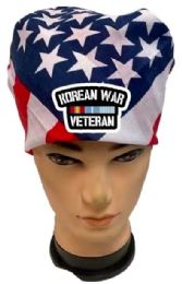 36 Units of Korean War Veteran USA FLAG Bandana - Bandanas
