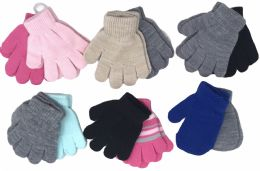 72 Units of Baby Toddler Boys Or Girls Soft Knit Gloves Mittens - Kids Winter Gloves