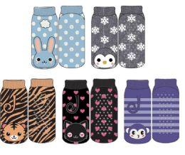 24 Units of Kids Polar Extrreme Thermal Sock Footie Critter Design - Girls Footwear