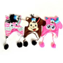 12 Units of Kids Adorable Animal Hat And Glove Set - Junior / Kids Winter Hats