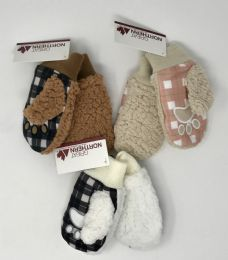 12 Units of KIDS SHERPA LINED CRITTER MITTENS - Kids Winter Gloves