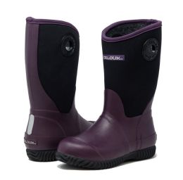 12 Units of Kids Premium High Performance Insulated Rain Boot In Purple - Girls Boots