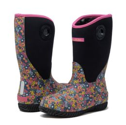 12 Units of Kids Premium High Performance Insulated Rain Boot In Paisley - Girls Boots