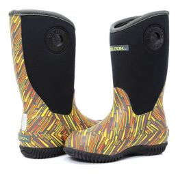 12 Units of Kids Premium High Performance Insulated Rain Boot In Yellow Zap - Girls Boots