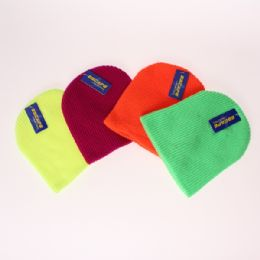 36 Units of MENS ESCAPE BY POLAR EXTREME PULL NEON HAT - Winter Beanie Hats