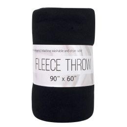"24 Units of Oversized Fleece Throw Blankets 90"" x 60"" - Fleece & Sherpa Blankets"