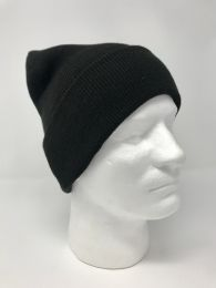 24 Units of RYNO INSULATED BLACK CUFF BEANIE - Winter Beanie Hats
