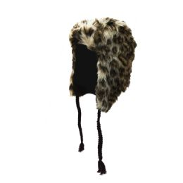 72 Units of Fleece Lined Faux Fur Trapper Hat With Tassels - Trapper Hats