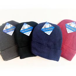 36 Units of MENS BASIC SOFT KNIT HAT - Winter Beanie Hats
