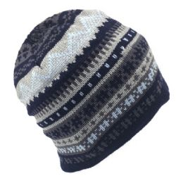 36 Units of MENS FAIRISLE THICK STITCH WINTER CAP - Winter Beanie Hats