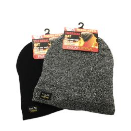 18 Units of POLAR EXTREME HEAT MENS PULL HAT - Winter Beanie Hats