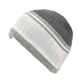 36 Units of MENS LINED STRIPED HAT - Winter Beanie Hats