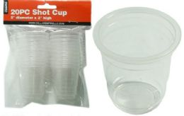 48 Units of 20 Piece Shot Cups - Plastic Drinkware