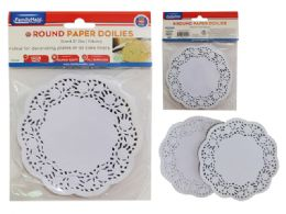 72 Units of Doilies Paper Round - Placemats and Doilies