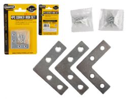 96 Units of 4 Piece Flat Corner Iron Supports - Hardware Gear