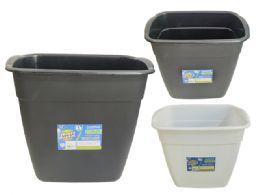 24 Units of Plastic Waste Bin Black And White Color - Waste Basket