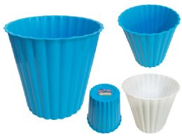 24 Units of Plastic Waste Bin Blue And White Color - Waste Basket
