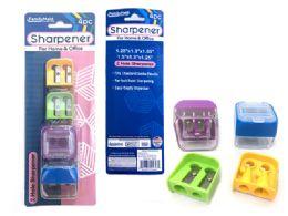144 Units of 4 Piece Pencil Sharpener - Sharpeners