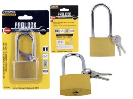 72 Units of Brass Padlock 46mm Long - Padlocks and Combination Locks