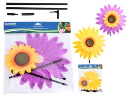 48 Units of Sunflower Pinwheel - Garden Decor