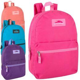 "24 Units of Classic 17 Inch Backpack Girl Assortment - Backpacks 17"""
