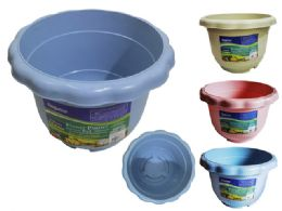 72 Units of Flower Pot Planter Assorted Color - Garden Planters and Pots
