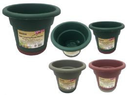 72 Units of Self Watering Flower Pot Planter - Garden Planters and Pots