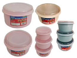 48 Units of 3pc Round Food Containers - Food Storage Containers